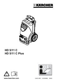 HD 5/11 C HD 5/11 C Plus - Karcher