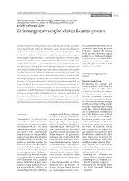Gerinnungshemmung im akuten Koronarsyndrom - Klinik für ...
