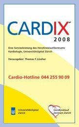CARDIXR - Klinik für Kardiologie - UniversitätsSpital Zürich