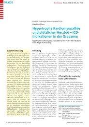 Hypertrophe Kardiomyopathie und plötzlicher Herztod - Klinik für ...