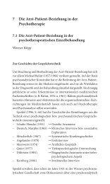 7 Die Arzt-Patient-Beziehung in der Psychotherapie - Dr. Werner Köpp