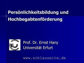 Vortrag Prof. Hany - Karg-Stiftung