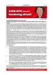 Bundestag aktuell: Frauenquote - Karin Roth, MdB