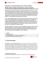 Kompaktinfo: Zeitpolitik ist eine Zukunftsaufgabe - Karin Roth, MdB