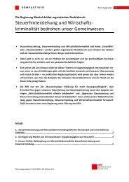 Steuerhinterziehung und Wirtschafts- kriminalität ... - Karin Roth, MdB