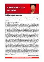 Atomausstieg beschlossen - Karin Roth, MdB