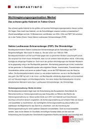 Fakten-Check: Sabine Leutheusser ... - Karin Roth, MdB