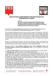 1000 nationale abgeordnete für eine steuer auf ... - Karin Roth, MdB