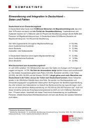 Kompaktinfo: Einwanderung und Integration in ... - Karin Roth, MdB