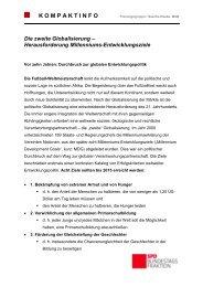 Herausforderung Millenniums-Entwicklungsziele - Karin Roth, MdB