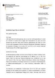 Schriftliche Frage zum Thema GAVI - Karin Roth, MdB