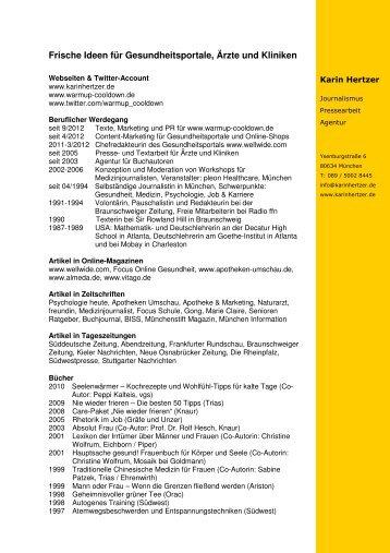 Karinhertzer Lebenslauf 2282012 Karin Hertzer
