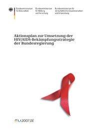 Aktionsplan zur Umsetzung der HIV/AIDS ... - Karin Kortmann
