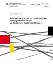Entwicklungsorientierte Transformation bei fragiler ... - Karin Kortmann