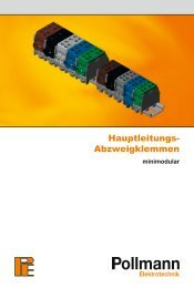 Hauptleitungs- Abzweigklemmen - KARL MAHL GmbH