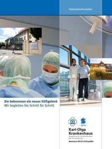 Sie bekommen ein neues Hüftgelenk - Karl-Olga-Krankenhaus