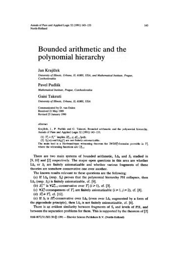 Bounded arithmetic and the polynomial hierarchy