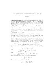 ADVANCED THEORY OF DIFFERENTIATION – TRACES 1. The ...