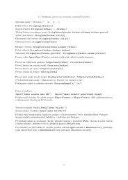 11. Řetězce, práce se soubory, externí balíčky Speciální znaky v ...