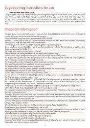 bugaboo frog instruction manual pdf