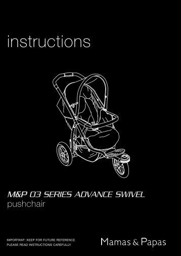 Cruiser Pushchair Instructions