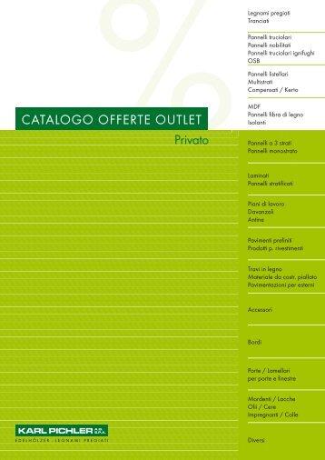 13/02/2013: catalogo offerte outlet - Karl Pichler