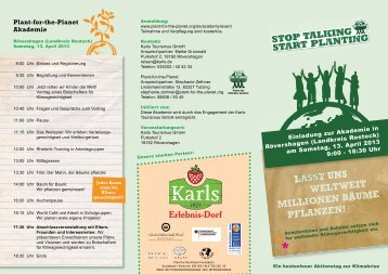 Download Flyer Plant-for-the-Planet Akademie - Karls