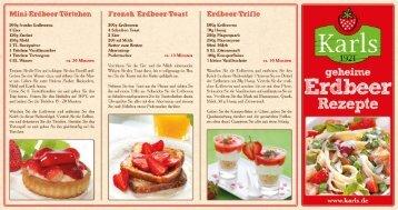 Erdbeer-Rezepte zum Download - Karls