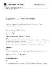 Reglemente för tekniska nämnden - Karlshamn