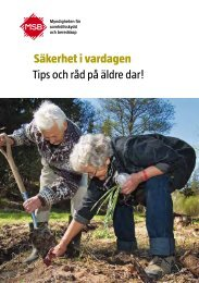 Säkerhet i vardagen Tips och råd på äldre dar! - Robertsfors kommun