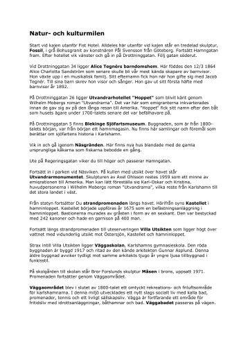 Natur- och kulturmilen - Karlshamn
