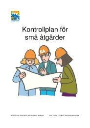 Kontrollplan för små åtgärder - information - Karlshamn