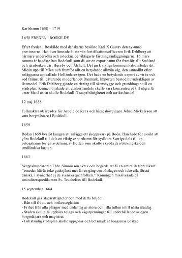 Karlshamns historia