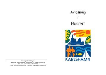 Avlösning i Hemmet - Karlshamn