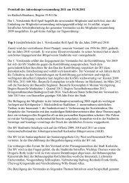 Protokoll als PDF - Bürgerverein Stadtmitte e.V.