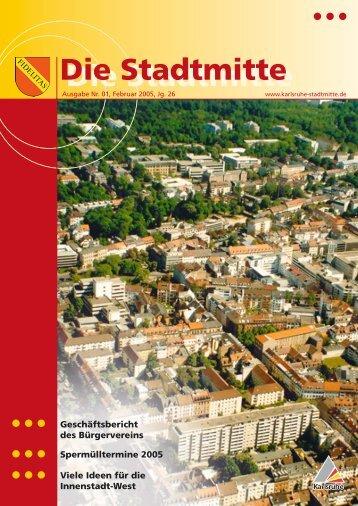 Ausgabe 1/2005 - Bürgerverein Stadtmitte e.V.