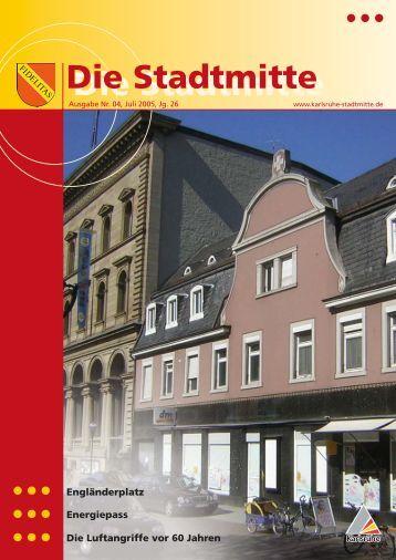 Ausgabe 4/2005 - Bürgerverein Stadtmitte e.V.