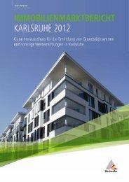 Immobilienmarktbericht Karlsruhe 2012 (PDF, 1.05 MB)