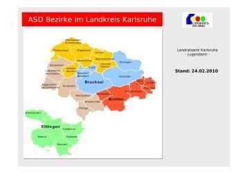 ASD Bezirke im Landkreis Karlsruhe