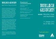 Ausstellungsflyer Durlach gesucht (PDF, 679 KB) - Karlsruhe