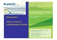 Hilfen für Kinder in suchtbelasteten Familien, Vortrag ... - Karlsruhe