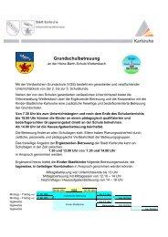 Informationen zur Grundschulbetreuung (PDF, 133 KB) - Karlsruhe