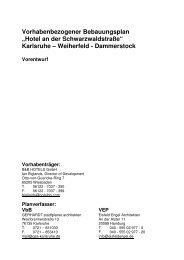 Vorhabenbezogener Bebauungsplan - Vorentwurf - Karlsruhe