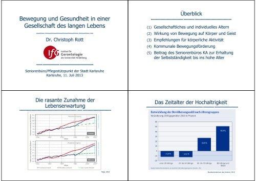 Bewegung und Gesundheit in einer Gesellschaft des ... - Karlsruhe