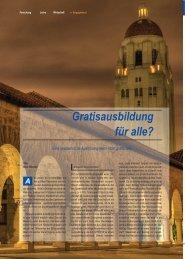 Gratisausbildung für alle? - Karlsruher Transfer