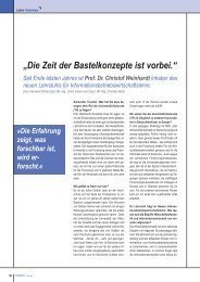 Interview mit Prof. Dr. Christof Weinhardt - Karlsruher Transfer