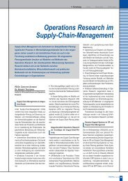 Operations Research im Supply-Chain-Management - Karlsruher ...