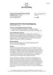 Optionsavtal för friskvårdsanläggning