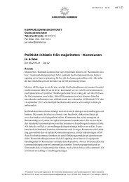 Politiskt initiativ från majoriteten - Kommunen in a box - Karlstads ...