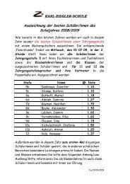 Jahrgangsbeste Info - Karl-Ziegler-Schule